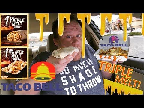Taco Bell ☆TRIPLE MELT BURRITO & NACHOS☆ Review!!!