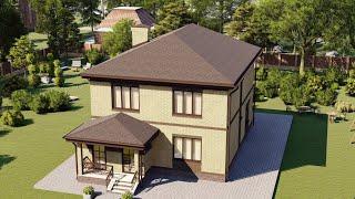 Проект дома 161-A, Площадь дома: 161 м2, Размер дома:  9,4x11,7 м