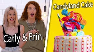 Can Carly & Erin Re-Create Our Candyland Cake?! | Snackable's Impossible Food Challenge