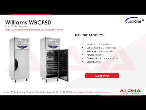 Williams Blast Chiller Range | Alpha Catering Equipment