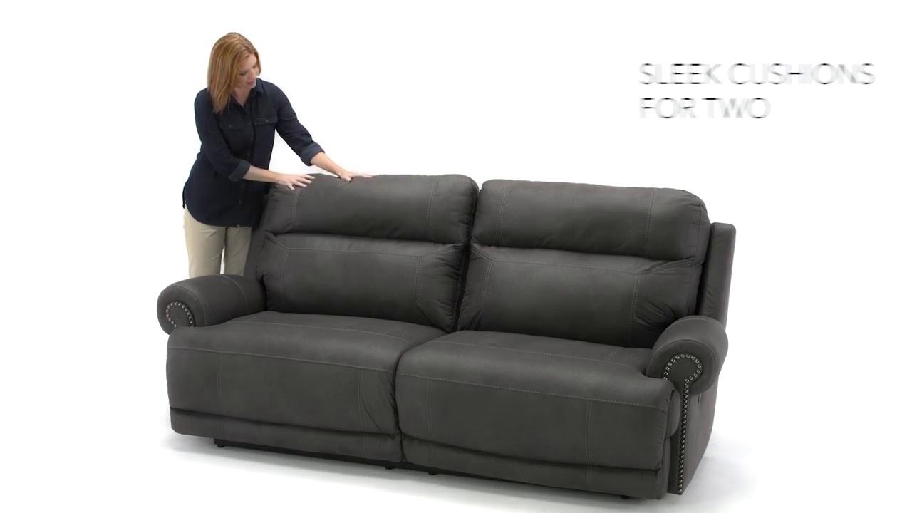 Austere Gray Reclining Sofa from Ashley (3840181 ...