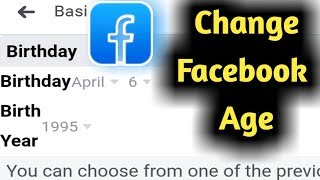 How to Change Facebook Age