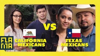California Mexicans vs. Texas Mexicans
