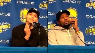 Steph Curry & Kevin Durant Reflects On Dwyane Wade | Warriors Vs Heat