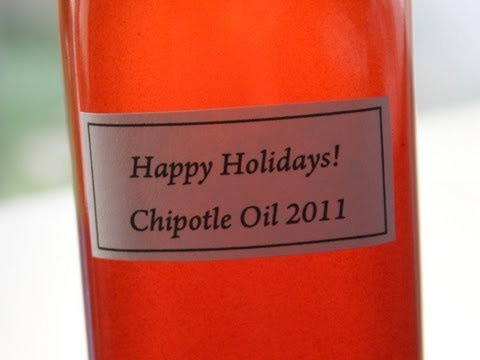 Chipotle Oil – Great Edible Holiday Gift Idea!