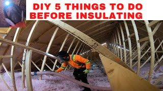 Diy attic insulation-5 things to do before you insulate your attic