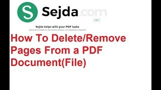 How To Delete/Remove PDF Pages From a Document