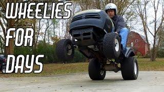 Racing Mower Build Pt. 3: Wheelies & Drag Racing