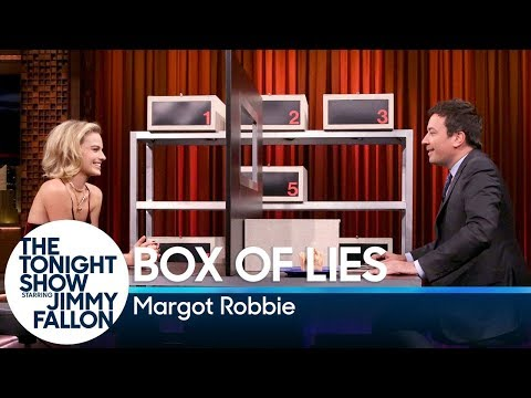 Margot Robbie Fails To Fool Jimmy Fallon While Playing ''Box Of Lies''