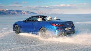 Один день с BMW 850 на льду Байкала