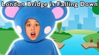 London Bridge is Falling Down | Learn Building Blocks | Mother Goose Club Phonics Songs