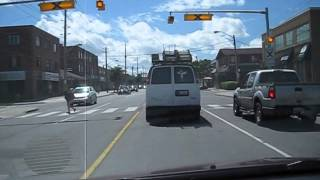 preview picture of video 'Driving on The Queensway Avenue West, Etobicoke june 2013 - youtube.com/tanvideo11'
