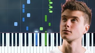 """Alec Benjamin   """"Let Me Down Slowly"""" Piano Tutorial   Chords   How To Play   Cover"""