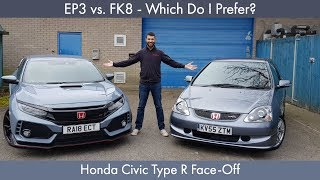 EP3 Vs. FK8   Which Do I Prefer? Honda Civic Type R Face Off