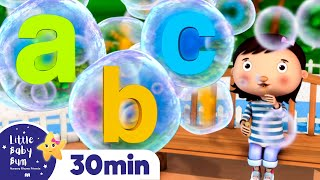 ABC Bubbles | Learn Letters! +More Nursery Rhymes and Kids Songs | Little Baby Bum