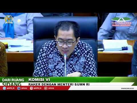 Komisi VI DPR RI Rapat Kerja dengan Menteri BUMN
