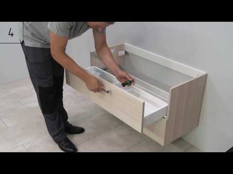 How to install KAMĖ built in washbasin
