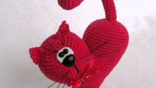 Амигуруми: схема Сердце - Кот. Игрушки вязаные крючком!