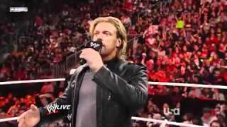 WWE Raw 4/11/2011 Edge announces retirement (HQ)