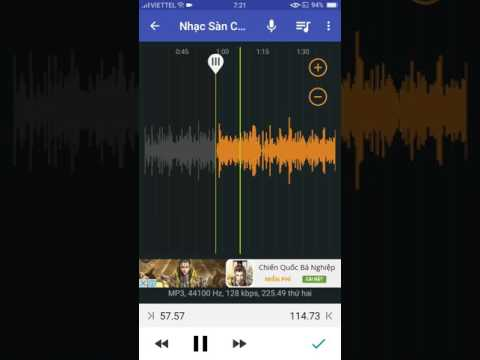 Cách cắt nhạc trên trên điện thoại