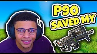 Fortnite Funny Moments - Myth Explains How He DESTROYS Everyone and How P90 Saved Him (NEW 2018)