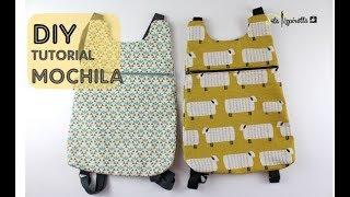 DIY Tutorial Mochila Básica 1 Con PATRONES GRATIS