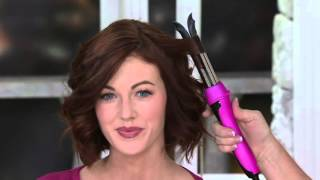 CHI Smart GEMZ Ease Curl Split Barrel Curling Iron on QVC