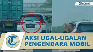 Viral Video Pengendara Mobil Ugal-ugalan di Jalan Tol, Melaju Zig-zag hingga Sopir Diburu Polisi