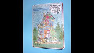 A Special Christmas Card For My Sister, Carolyn Shores Wright Holly House