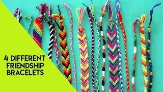 4 different techniques to make friendship bracelets