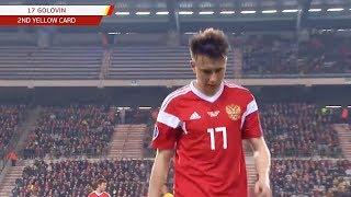 Почему ГОЛОВИНА удалили во время матча БЕЛЬГИЯ - РОССИЯ?