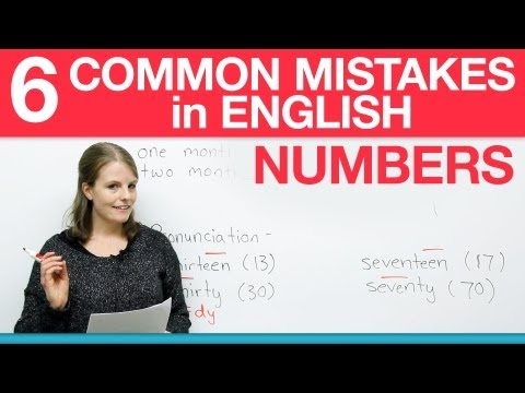 How to write numbers in English