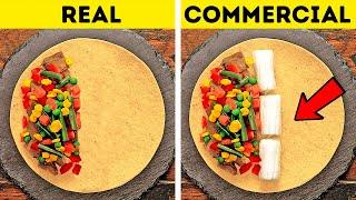 COMMERCIAL VS  REAL || 26 SHOKING ADS TRICKS