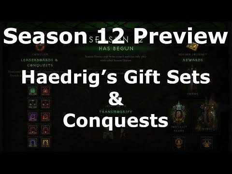 [Diablo 3] Season 12 Haedrig's Gift Sets & Conquests Preview | Patch 2.6.1 PTR