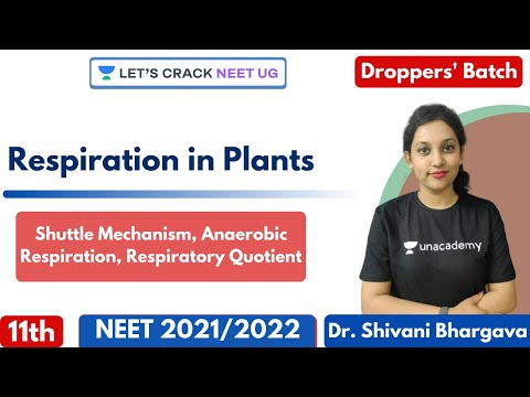, title : 'Respiration in Plants - Shuttle Mechanism, Anaerobic Respiration, Respiratory Quotient | Class 11th