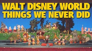 Walt Disney World Experiences We Never Did | DIS Unplugged Minisode