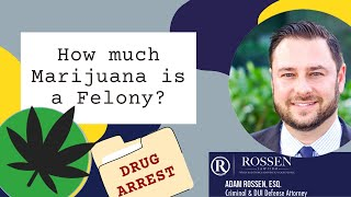 How much weed must I possess for a felony charge?