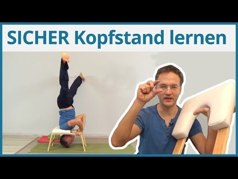 SICHER Kopfstand lernen  ✅ Kopfstandhocker für Yoga Anfänger