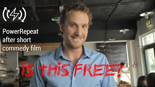 PRACTICE ENGLISH | IS THIS FREE? Repeat after great comedian sketch!