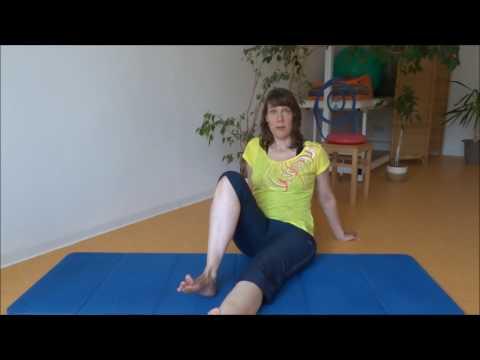 Eine Reihe von Übungen in Coxarthrose Hüftgelenken