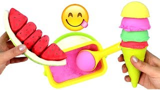 Learn Fruit Names with Toys and Kinetic Sand Ice Cream Learn Colors Fun Learning for Kids