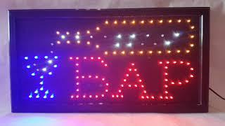 Светодиодная LED вывеска Бар 48*25 от компании ТехМагнит - видео