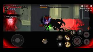 SHADOW OF DEATH | HARD BATTLE ON BOSS | MOBILE GAMEPLAY | HD