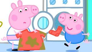 Wäsche Waschen Mit Peppa Wutz   Cartoons für Kinder   Peppa Wutz Neue Folgen