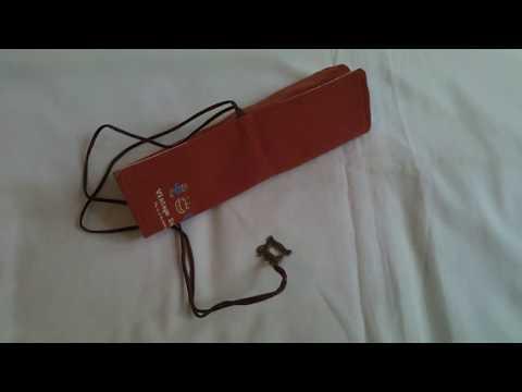 Avvolgere tela rimboccarsi pennelli trucco cosmetico sacchetto della penna titolare
