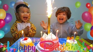 Happy Birthday to Baby at home with surprise gifts cake from Anto and Diana | Birthday song by Anto