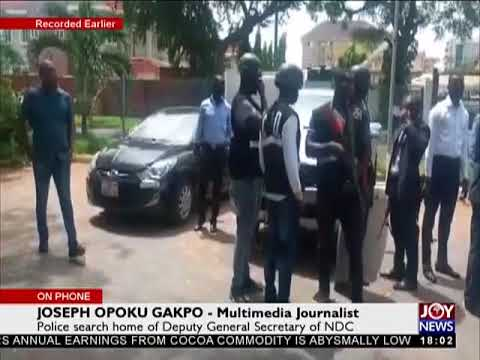 Police search home of Deputy General Secretary of NDC - The Pulse on JoyNews (27-3-18)