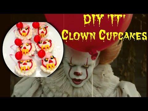 DIY Halloween 'IT' Clown Cupcakes