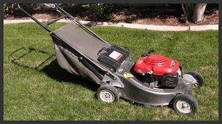 How to start the lawnmower
