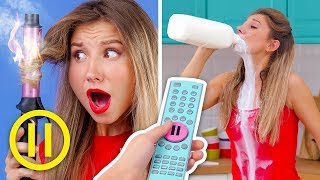 PAUSE CHALLENGE! Prank Wars! || Pause Challenge For 24 Hours by 123 GO! Challenge